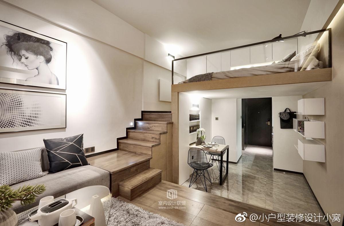 南通小户型装修35㎡现代风格挑高3.5米小型公寓,这风格如何? zt