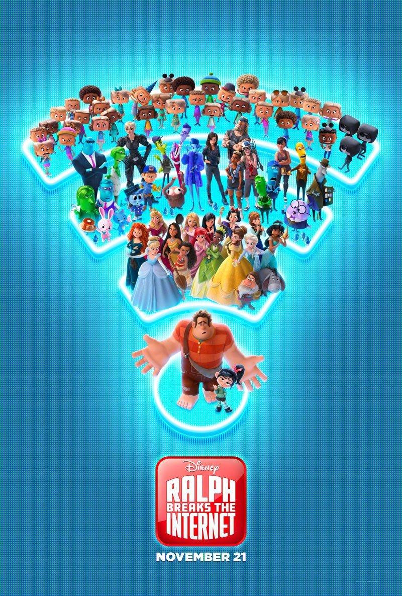 迪士尼动画无敌破坏王2发布新海报,各种迪士尼ip角色